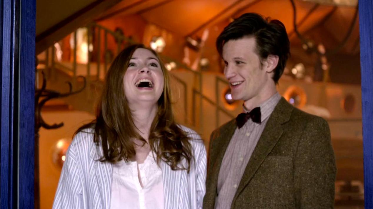 Amy Pond (Karen Gillan) and The Doctor (Matt Smith) in The Beast Below