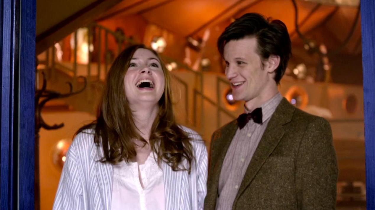 Amy Pond (Karen Gillan) and The Doctor (Matt Smith) in The Beast Below