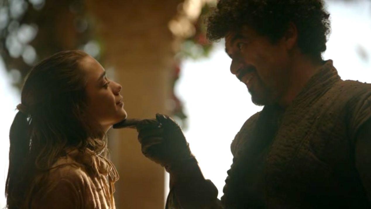 Arya (Maisie Williams) and Syrio Forel (Miltos Yeromelou)