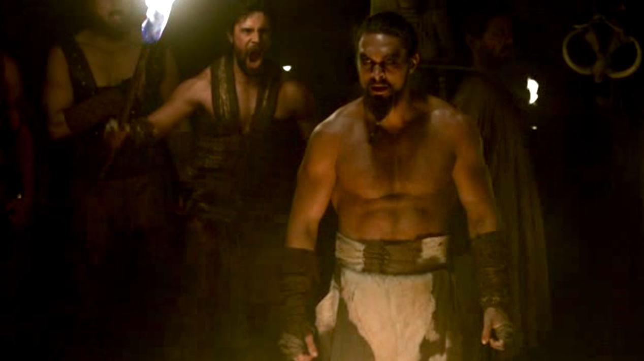 Khal Drogo (Jason Mamoa) in GOT 1x07
