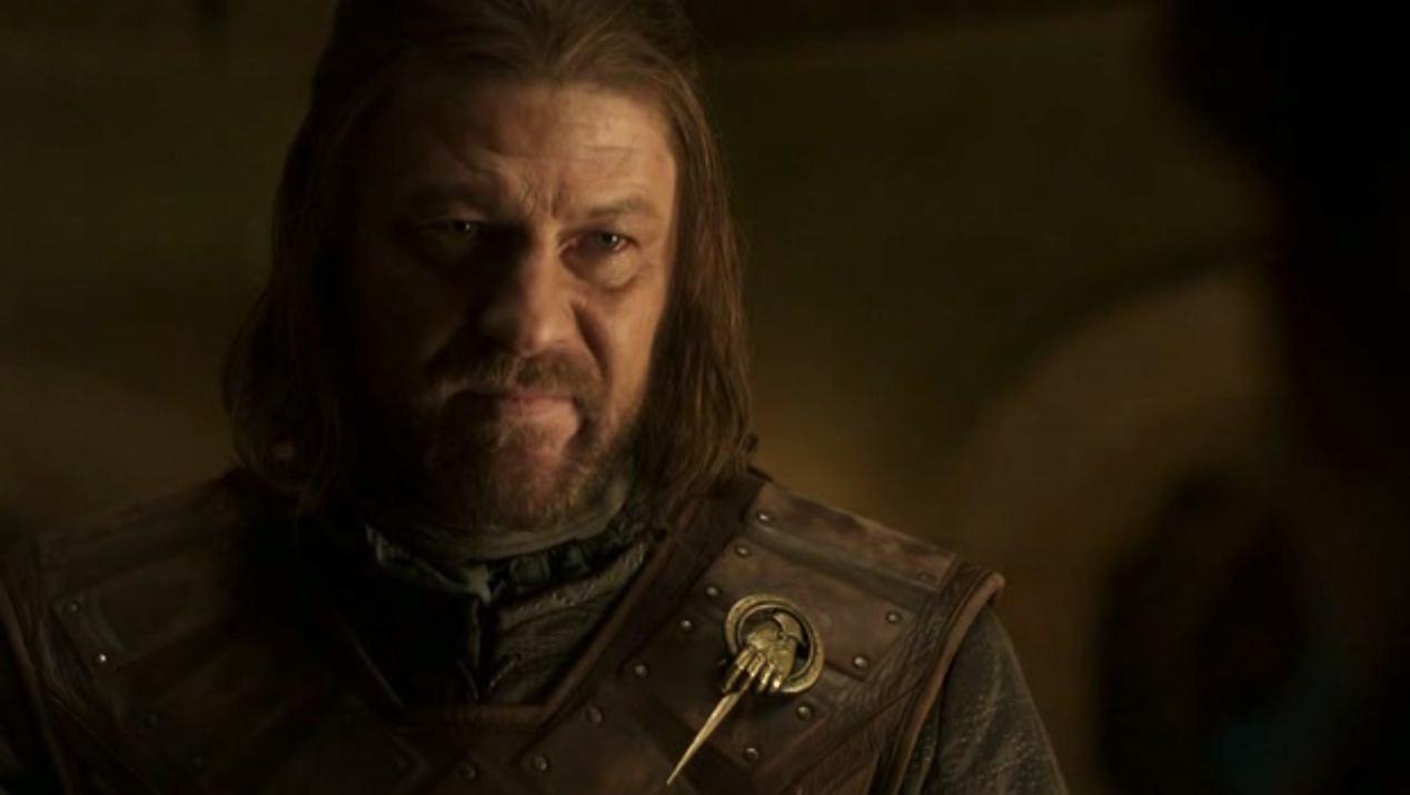 Ned Stark (Sean Bean) in GOT 1x06