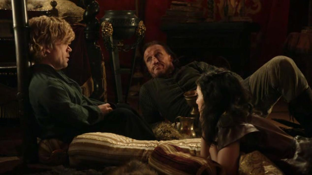 Tyrion, Bronn, and Shae in BAELOR