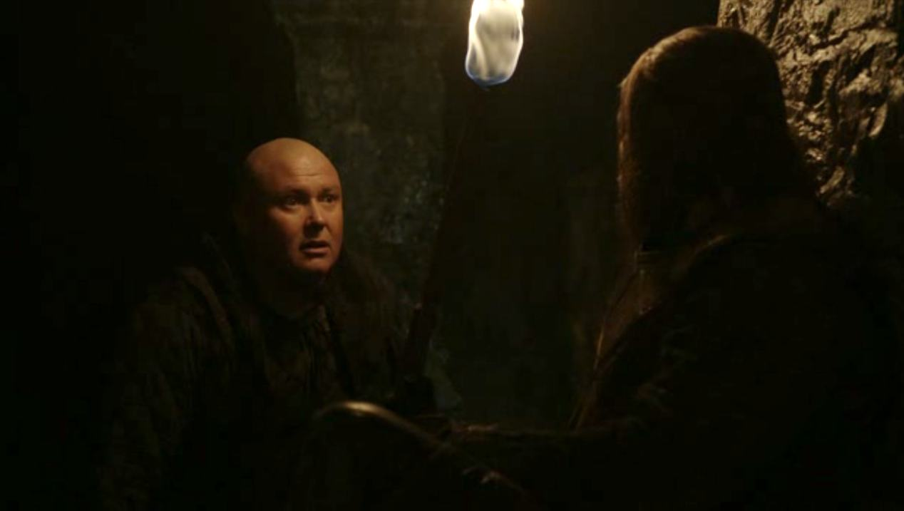 Varys (Conleth Hill) and Ned (Sean Bean) in BAELOR