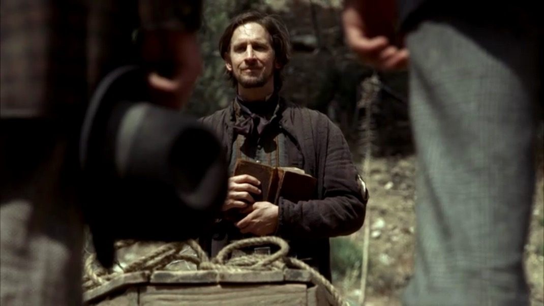 """The funeral of Wild Bill in DEADWOOD 1x05, """"The Trial of Jack McCall"""""""