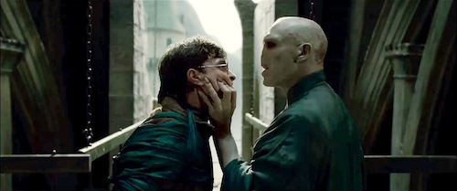 Daniel Radcliffe and Ralph Fiennes in HARRY POTTER AND THE DEATHLY HALLOWS PART 2