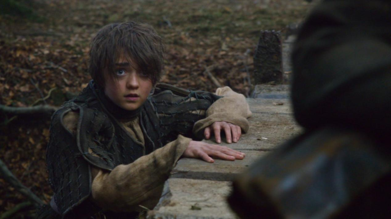 Arya (Maisie Williams) in GOT 202