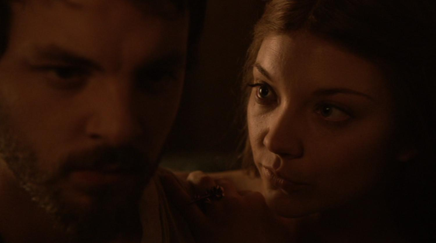 Renley (Gethin Anthony) and Margaery (Natalie Dormer) in GOT 203