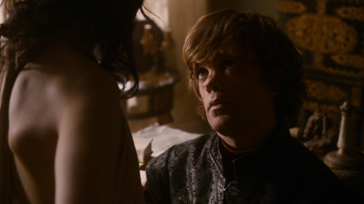 Shae (Sibel Kekili) and Tyrion (Peter Dinklage) in GOT 203
