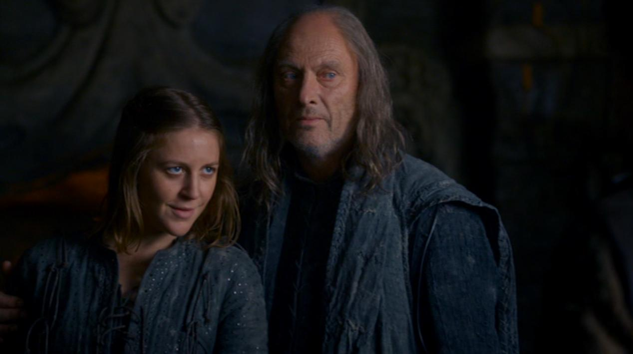 Yara (Gemma Whelan) and Balon (Patrick Malahide) in GOT 202