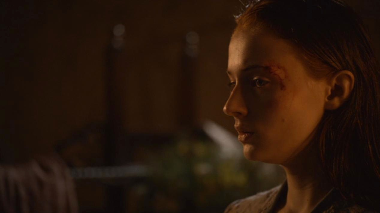 Sansa Stark (Sophie Turner) in GOT 206