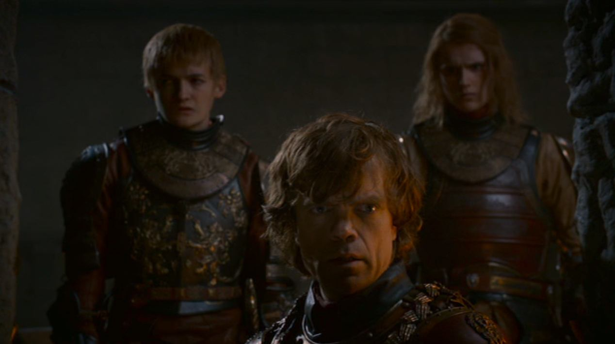 Joffrey, Tyrion, and Lancel in BLACKWATER