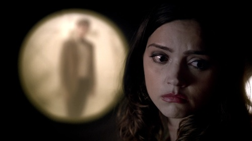 The Doctor (Matt Smith) and Oswin (Jenna Louise-Coleman)