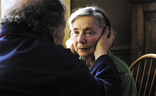 Jean-Louis Trintignant and Emmanuelle Riva in AMOUR, directed by Michael Haneke.