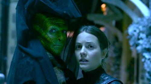 Vastra (Neve McIntosh) and Jenny (Catrin Stewart)