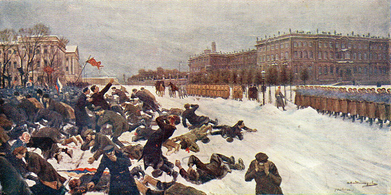"A painting of the ""Bloody Sunday"" massacre by Ivan Vladimirov"