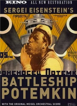 Battleship Potemkin, (1925).Directed by Sergei M. Eisenstein; screenplay by N. F. Agadzhanova-Shutko; cinematography by Eduard Tisse; music by Edmund Meisel.