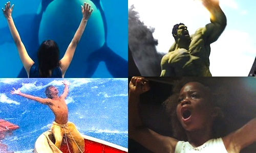 Clockwise from top-left: RUST AND BONE, THE AVENGERS, BEASTS OF THE SOUTHERN WILD, LIFE OF PI