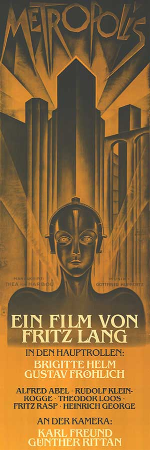 1927 movie poster for METROPOLIS