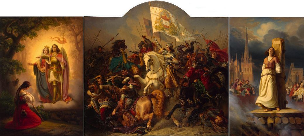 Triptych on The Life of Joan of Arc by Herman Stilke (1843)