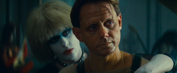 Pris (Darryl Hannah) and J.F. Sebastian (William Sanderson)