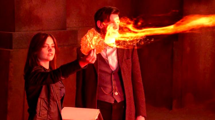 Clara (Jenna-Louise Coleman) and the Doctor (Matt Smith)