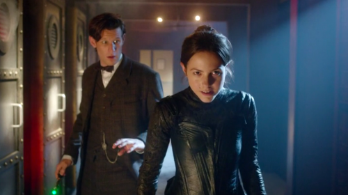 "The Doctor and Jenny in ""The Crimson Horror"""