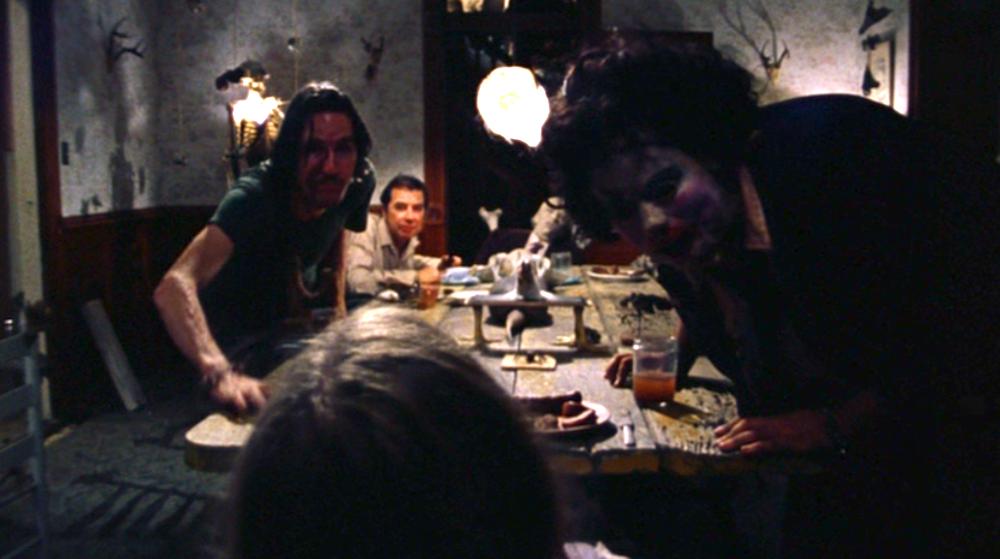 Dinner scene, THE TEXAS CHAIN SAW MASSACRE