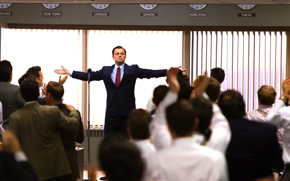 Jordan Belfort (Leonardo DiCaprio) in THE WOLF OF WALL STREET (2013