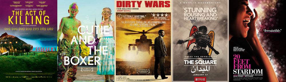 BEST DOCUMENTARY FEATURE: The Act of Killing; Cutie and the Boxer; Dirty Wars; The Square; 20 Feet from Stardom