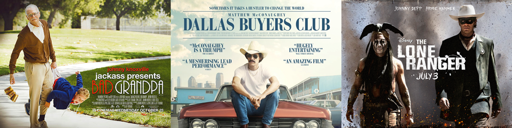 BEST MAKEUP AND HAIRSTYLING: Bad Grandpa, Dallas Buyers Club, The Lone Ranger