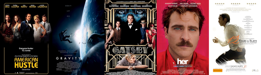 BEST PRODUCTION DESIGN: American Hustle, Gravity, The Great Gatsby, Her, 12 Years a Slave