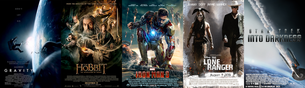 BEST VISUAL EFFECTS: Gravity, The Hobbit: The Desolation of Smaug, Iron Man 3, The Lone Ranger, Star Trek Into Darkness