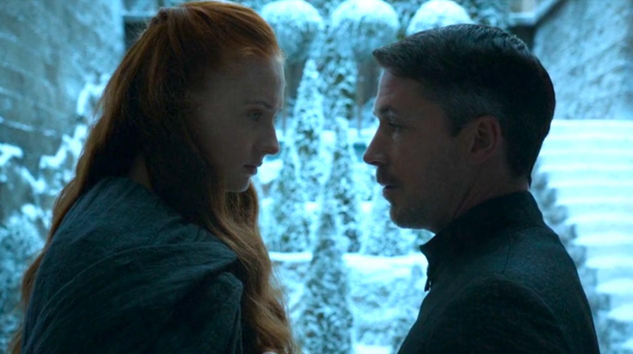 Sansa-Sophie-Turner-and-Baelish-Aidan-Gillen-in-Mockingbird