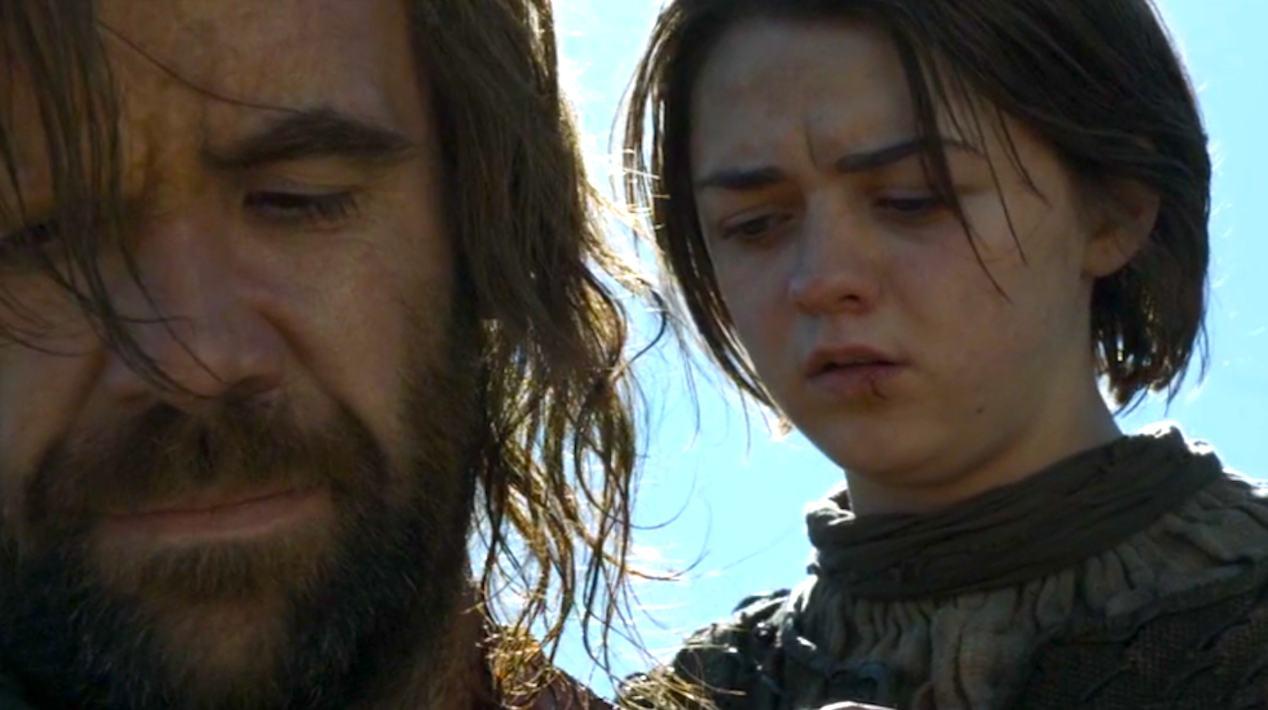 The-Hound-Rory-McCann-and-Arya-Maisie-Williams-in-Mockingbird