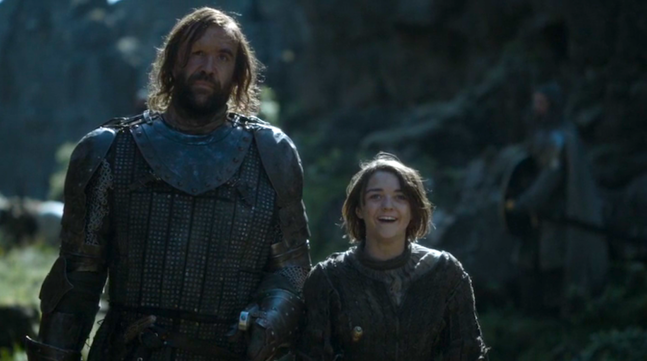 The-Hound-Rory-McCann-and-Arya-Maisie-Williams-in-The-Mountain-and-the-Viper