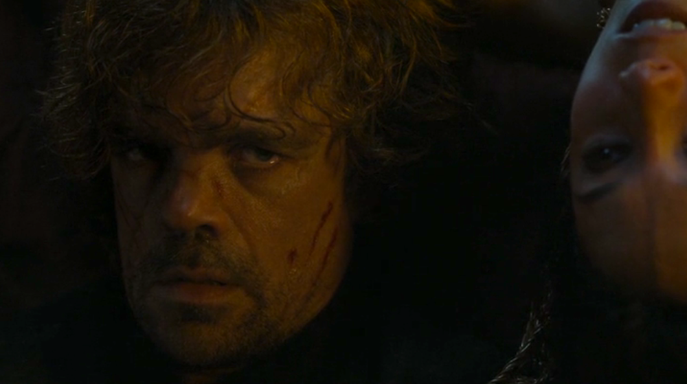 Tyrion (Peter Dinklage) and Shae (Sibel Kekili) in The Children
