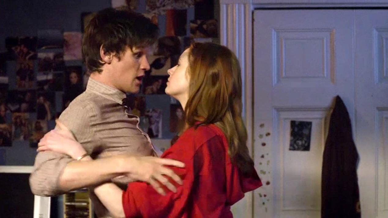 The Doctor (Matt Smith) and Amy (Karen Gillen) in FLESH AND STONE