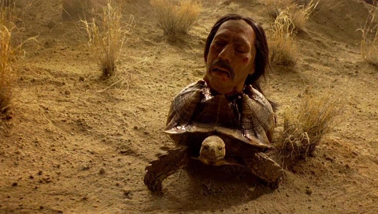 Tortuga (Danny Trejo), and friend