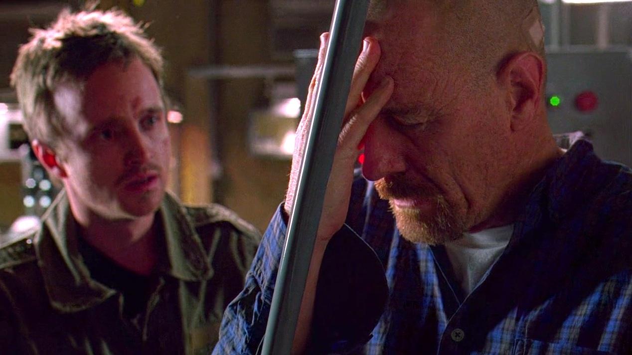 Jesse (Aaron Paul) and Walt (Bryan Cranston) in FLY