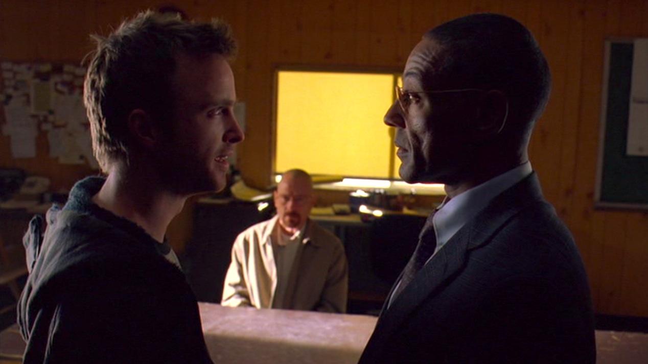 Jesse, Walt, and Gus in HALF MEASURES