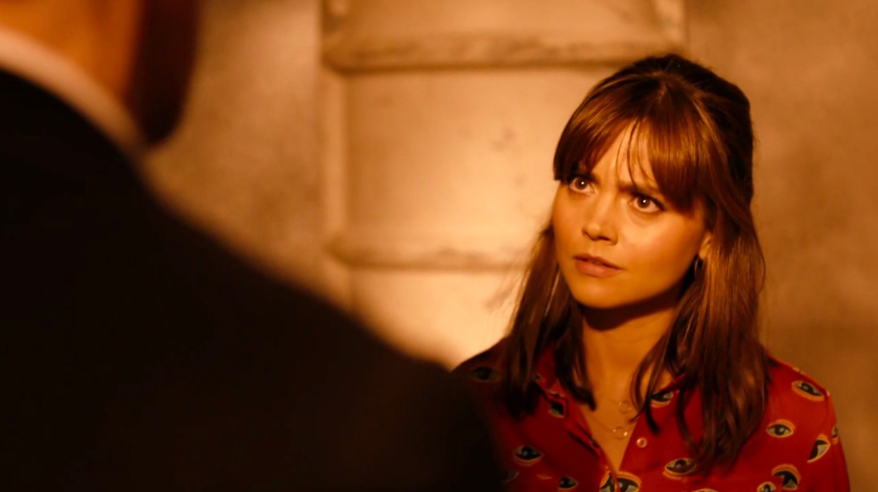 The Doctor (Peter Capaldi) and Clara (Jenna Coleman) in INTO THE DALEK