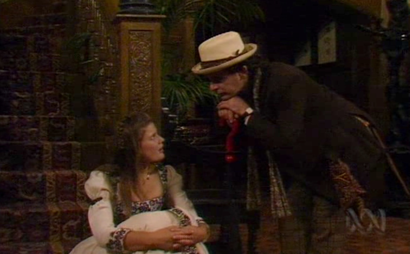 The Doctor (Sylvester McCoy) and Ace (Sophie Aldred) in GHOST LIGHT