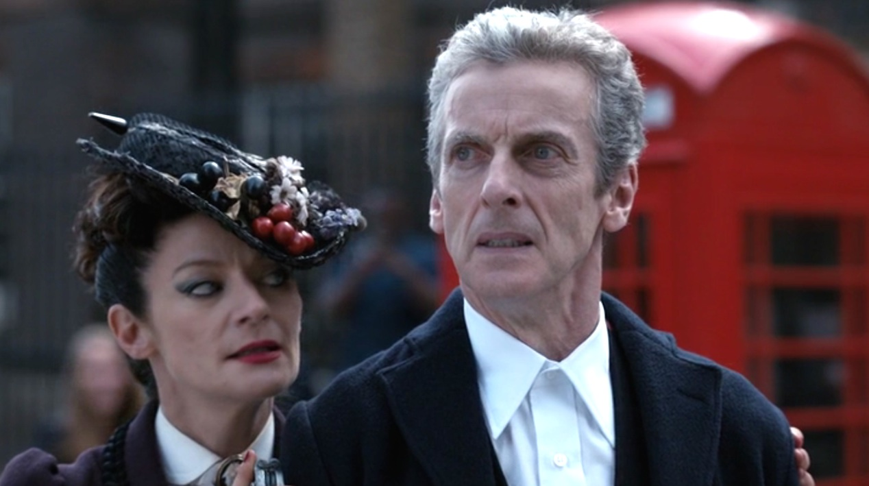 Michelle Gomez and Peter Capaldi in DEATH IN HEAVEN