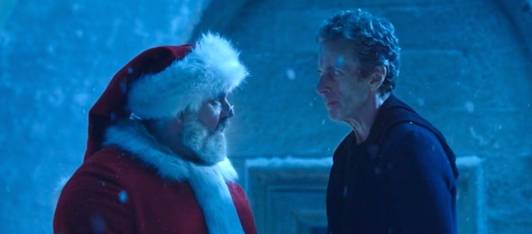 Santa-Nick-Frost-and-the-Doctor-Peter-Capaldi