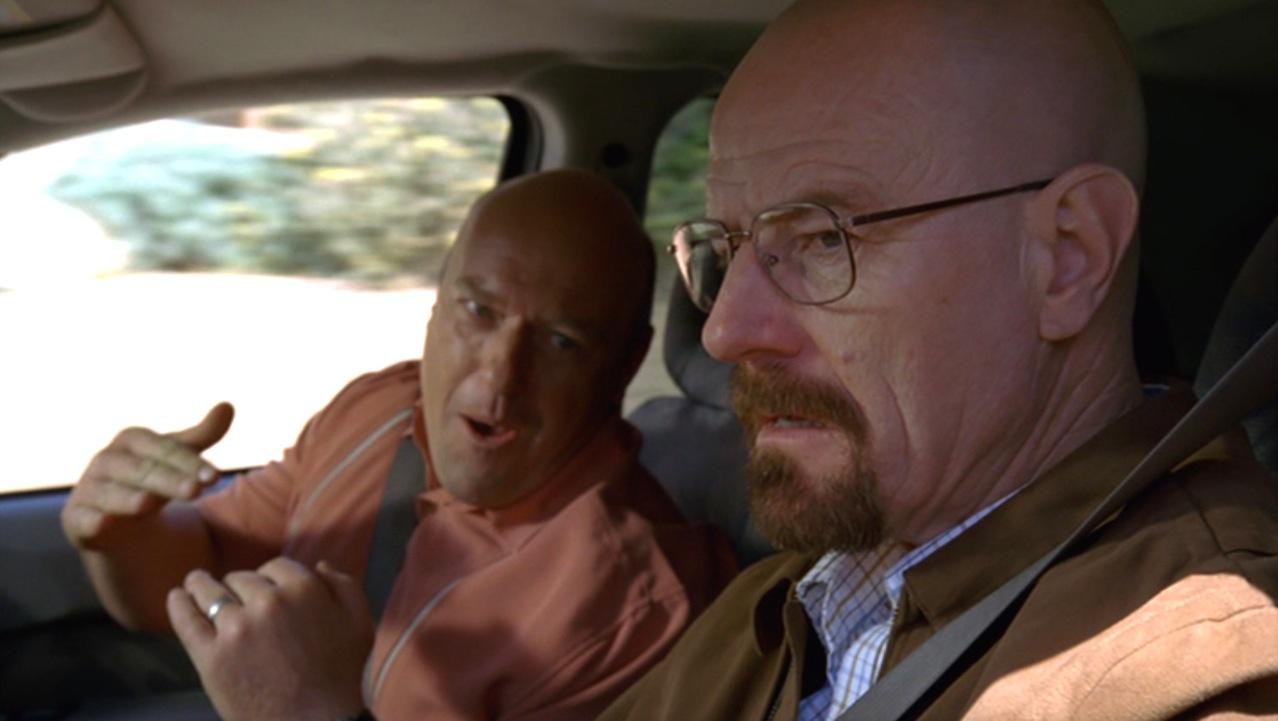 Hank (Dean Norris) and Walt (Bryan Cranston) in BUG