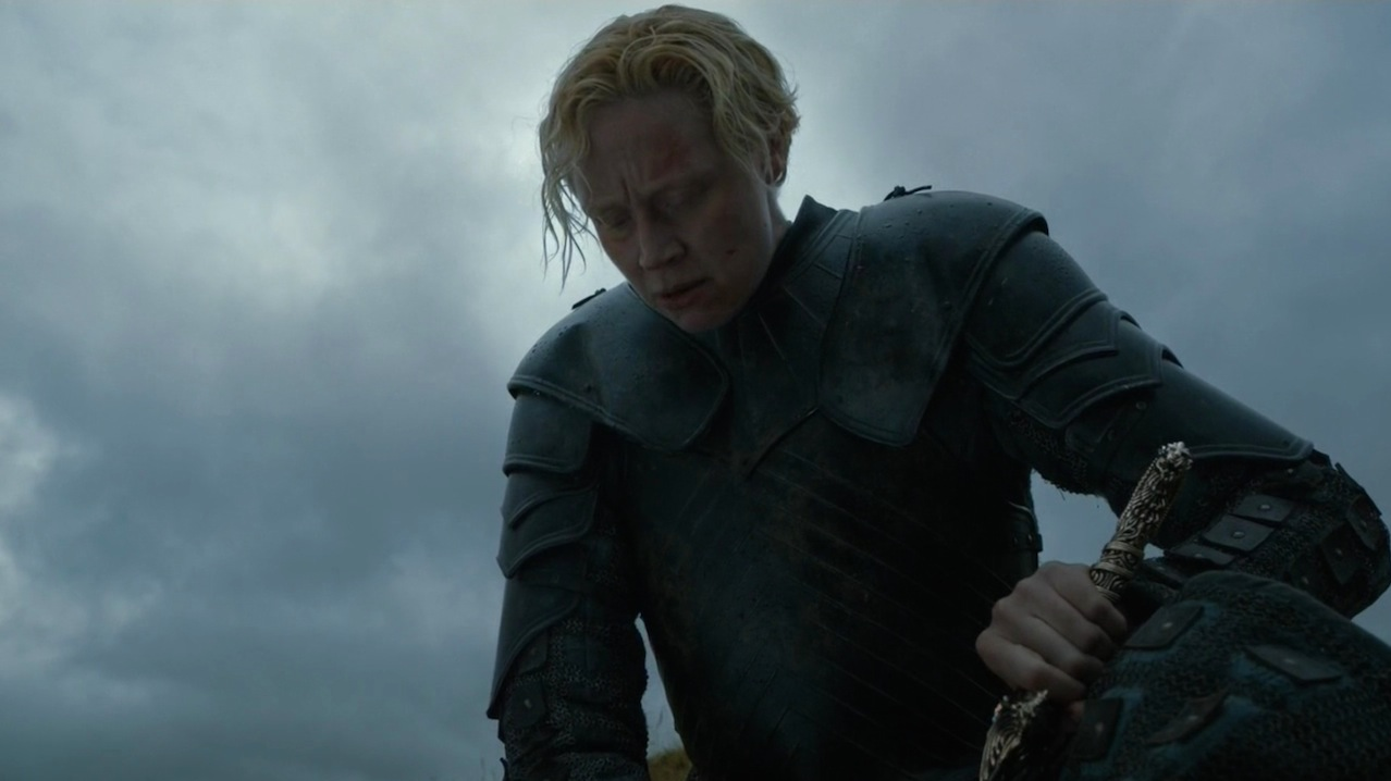 Brienne (Gwendoline Christie) in The Wars to Come