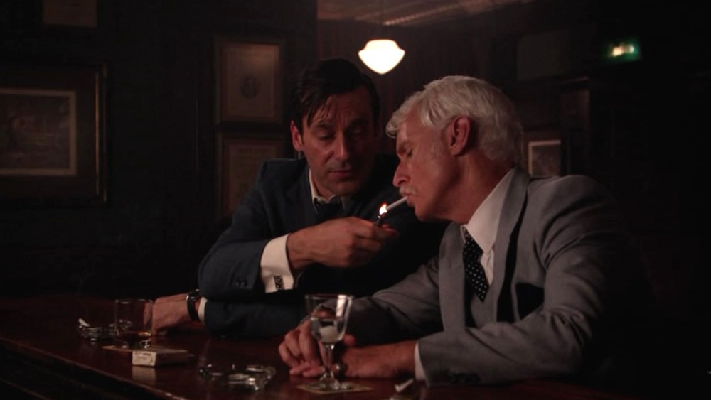 Don (Jon Hamm) and Roger (John Slattery) in Time & Life