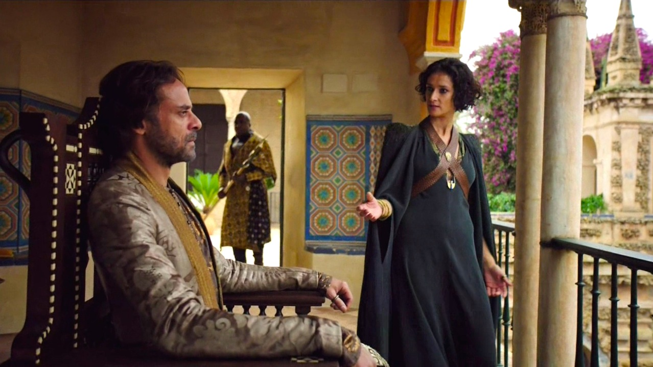 Doran (Alexander Siddig) and Ellaria (Indira Varma)