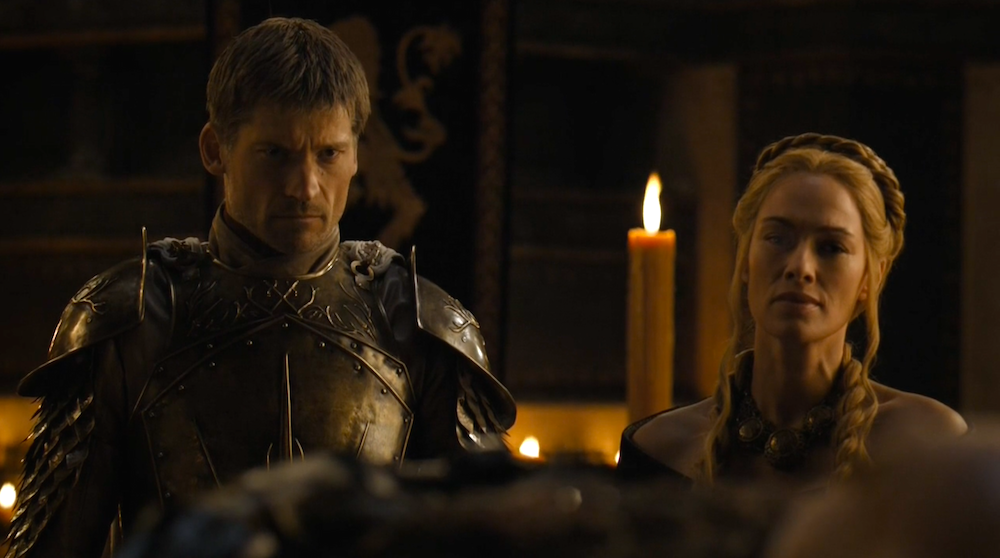 Jaime (Nikolaj Coster-Waldau) and Cersei (Lena Headey) in The Wars to Come