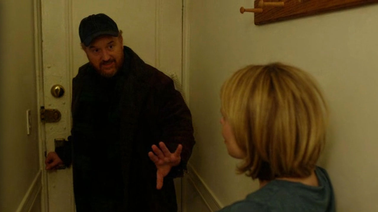 Louie-(Louis-CK)-and-Julianne-(Celia-Keenan-Bolger)-in-Pot-Luck